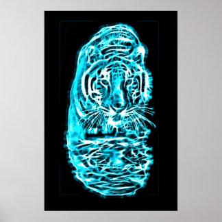 Tiger Fractal Art Posters
