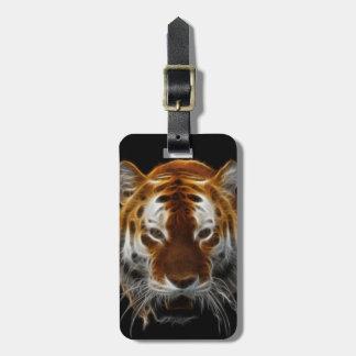 Tiger Fractal Bag Tag