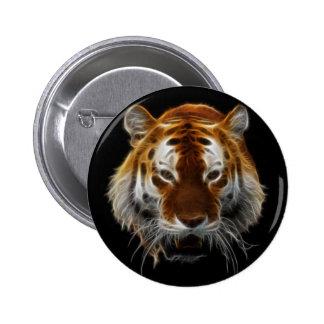 Tiger Fractal Pinback Button