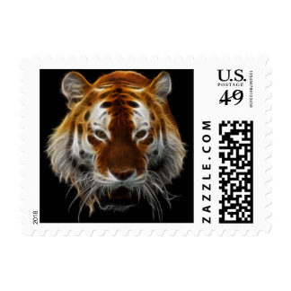 Tiger Fractal Postage Stamps