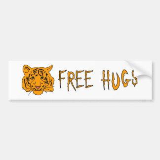 Tiger Free Hugs Bumper Sticker