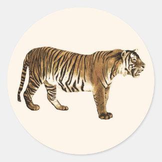 Tiger Free Spirit Classic Round Sticker