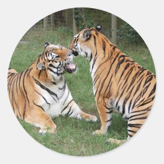 Tiger Friends-007 Classic Round Sticker