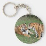 Tiger Friends-008 Basic Round Button Keychain