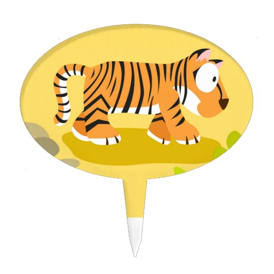 Tiger from my world animals serie cake topper
