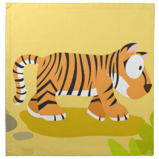 Tiger from my world animals serie cloth napkin