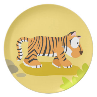 Tiger from my world animals serie melamine plate