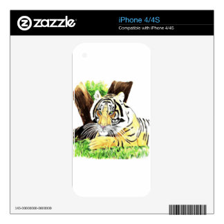Tiger from safari skin for the iPhone 4