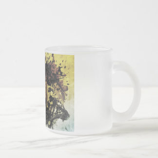 Tiger Frosted Glass Coffee Mug