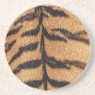 Tiger Fur Beverage Coasters
