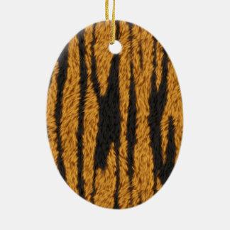 Tiger Fur Ceramic Ornament