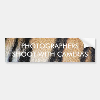 Tiger fur close up photo bumper sticker
