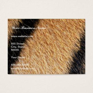 Tiger fur close up photo business card