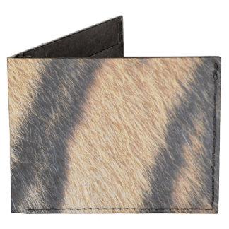 Tiger fur close up photo tyvek® billfold wallet