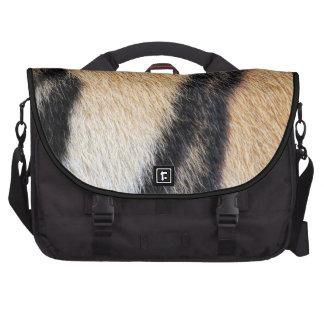 Tiger fur close up photo laptop messenger bag