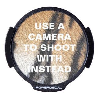 Tiger fur close up photo LED car window decal