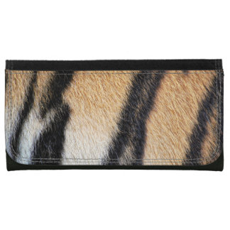 Tiger fur close up photo wallet for women