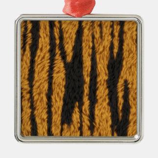 Tiger Fur Metal Ornament