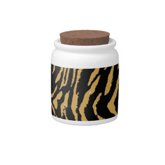 Tiger Fur Pattern Candy Jar