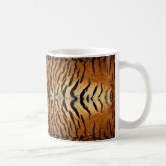 Tiger fur pattern coffee mug