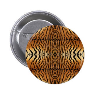 Tiger fur pattern pinback button