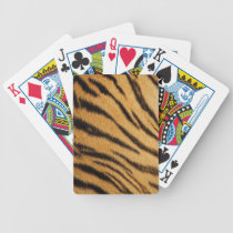 Tiger Fur Stripes Bicycle Playing Cards