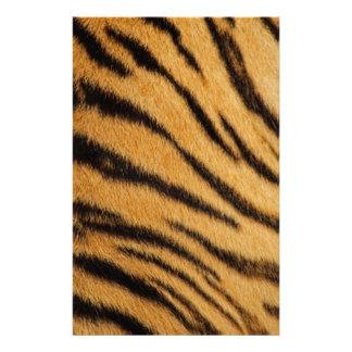 Tiger Fur Stripes Stationery Paper