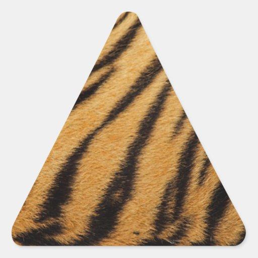 Tiger Fur Stripes Triangle Sticker