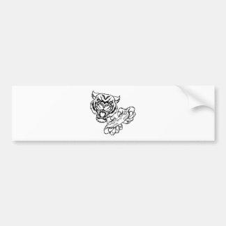 Tiger Gamer Mascot Bumper Sticker