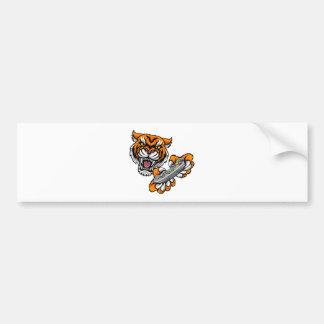 Tiger Gamer Player Mascot Bumper Sticker