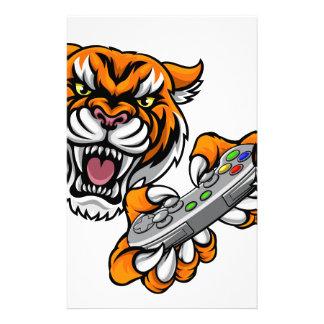Tiger Gamer Player Mascot Stationery