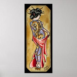 Tiger Geisha Poster at Zazzle