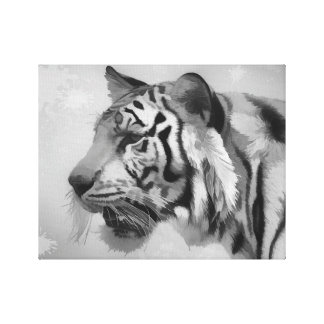 Tiger - Ghostly 2 Canvas Print