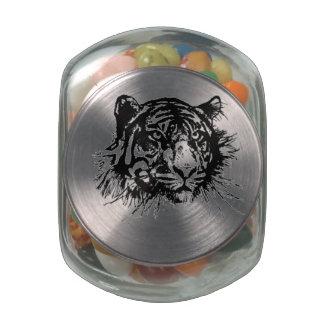 Tiger Glass Jars