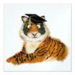 Tiger Graduation - SRF 5.25x5.25 Square Paper Invitation Card