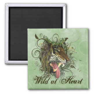 Tiger Growl 2 Inch Square Magnet