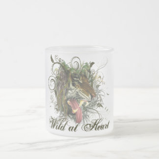 Tiger Growl Frosted Glass Coffee Mug