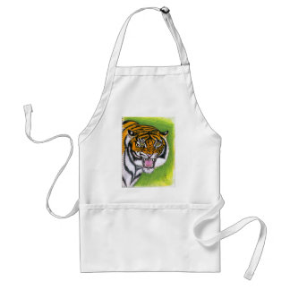 Tiger Growling Aprons