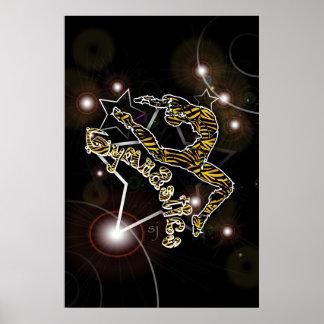 Tiger Gymnastics Poster