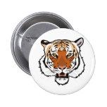 Tiger head 2 inch round button