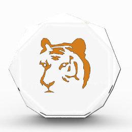 Tiger Head Acrylic Award