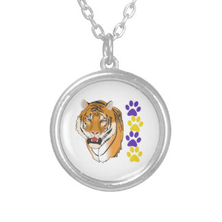 TIGER HEAD AND PAW PRINTS NECKLACES