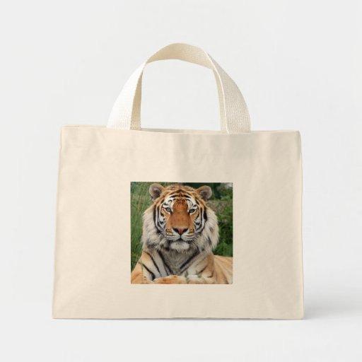 Tiger head beautiful photo shopping tote bag