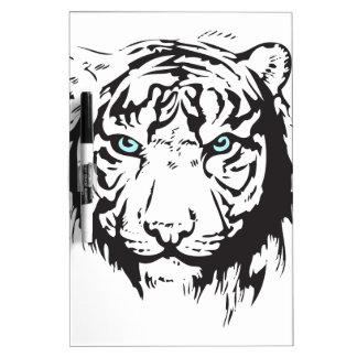 Tiger Head Blue Eyes Dry-Erase Board