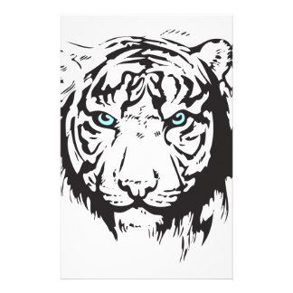 Tiger Head Blue Eyes Stationery