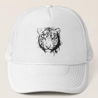 Tiger Head Blue Eyes Trucker Hat