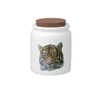 Tiger Head Candy Jar