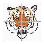 Tiger head canvas prints