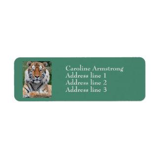 Tiger head custom return address labels