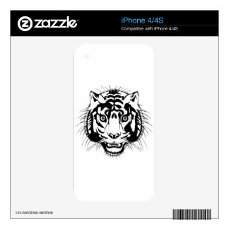tiger head decals for iPhone 4S